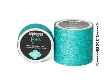 Masking tape / Washi tape fancy - blue green glossy