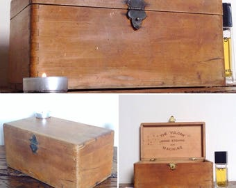Beautiful antique vintage storage box. Wedding box. Trinket box. Memory box. Jewellery chest. Wedding gift.
