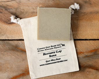 Bentonite Clay Shave Goat Milk Soap