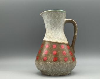 Jasba Keramik  218 - 18  Vintage Mid Century  1960s ceramic vase  -   West Germany Pottery WGP.