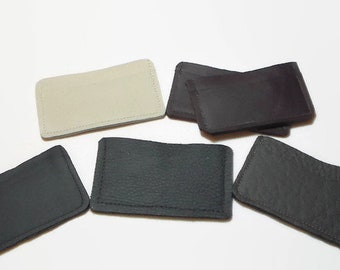 Simple Leather Wallet - Leather Card Wallet