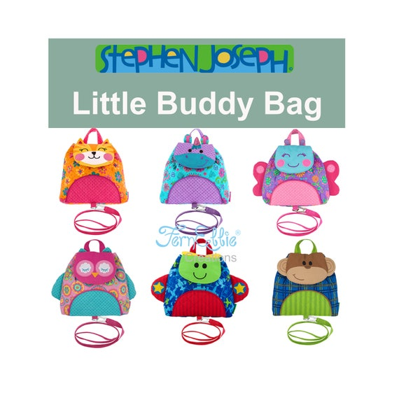 Stephen Joseph Little Buddy Bag, Little Backpack With Safty Harness And Strap.