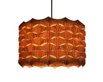 Wood Pendant Light - Modern Chandelier Lighting - Hanging Dining Lamp -Ceiling Light Fixture-Eco-friendly-design lamp-Lighting-pendant light