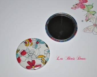 Fabric 59 mm Pocket mirror liberty of London Sophie's choice