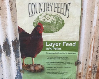 Empty Chicken Feed Sack Bags for DIY Project ~ Hen Plastic FeedSack for DIY Projects