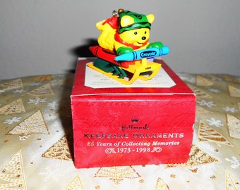 "Hallmark Keepsake Ornament ""Bright Sledding Colors""/Crayola Collector Series/Special Anniversary Edition 25 yrs. Of Collecting/New In Box!"