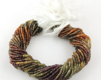 Christmas in July 2 Strands Tunduru Sapphire Faceted Roundelle beads - Tundura Sapphire Rondelle Beads  3mm 13 Inch ISR233