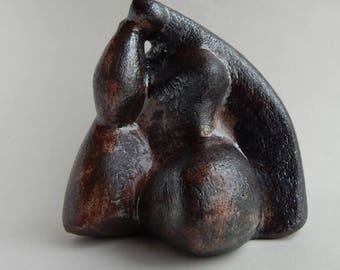 Ceramic sculpture - Woman, garden and park sculpture, clay sculpture, ceramics, statuette