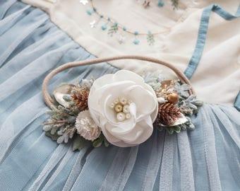 Christmas Jade Headband - Oh Holy Night M2M - M2M WDW - Christmas Headband - Christmas Floral - Photo Props - Holiday Headband - Wedding