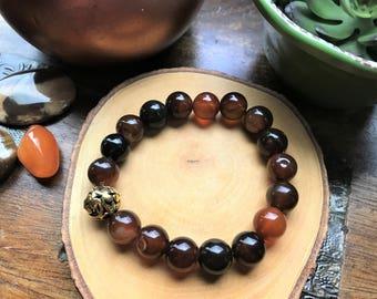 Healing Stone Bracelet - Gemstone Bracelet - Healing Jewelry - Tigers Eye - Womens Birthday Gift - Stone Bracelet - Womens Stone Bracelet