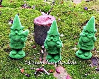 fairy garden gnomes, fairy garden topiaries, miniature gnome, miniature topiaries, mini gnome statue, dollhouse topiary, dollhouse gnome