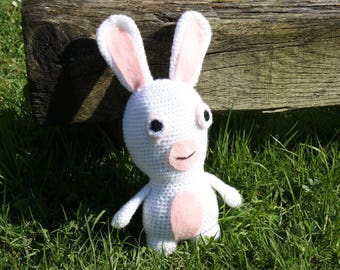 Bunny plush pink and white
