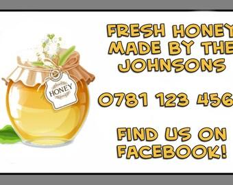 Personalised Fresh Honey Self Adhesive Labels x 21