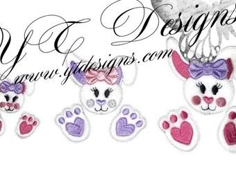 Morceaux de lapin de Pâques lapin Feltie Feltie pièces broderie numérique fichier