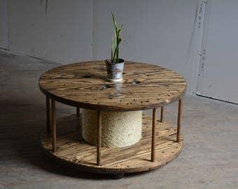 spool coffee table | etsy
