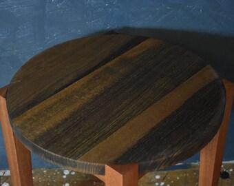 Black ash side table