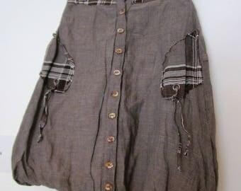 Bohemian skirt printed cotton kids