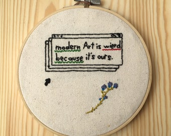 Modern Art Embroidery Hoop Art