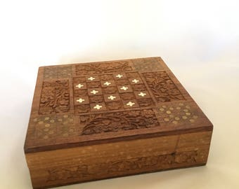 Vintage Wood Trinket Box