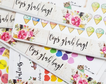 Oops grab bags! Second chance planner stickers