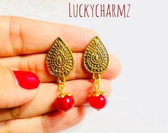 Indian paisley earrings