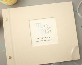 Personalised Mr And Mr Wedding Photo Album