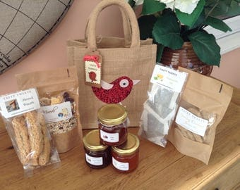 FREE POST bird lunch hamper gift bag homemade food Mother's Day teachers gift birthday present