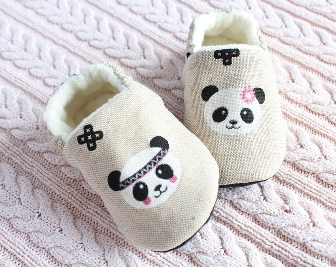 Panda Girl pre walker and toddler baby shoes
