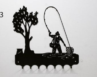 Hangs 26 cm pattern metal keys: fisherman