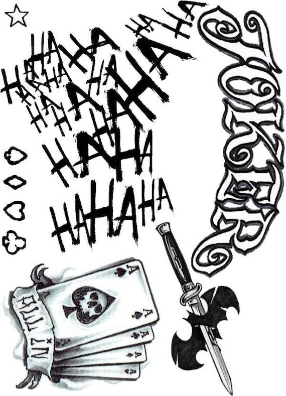 Joker Ha Ha Ha Tattoo: Joker Suicide Squad Tattoos Hahaha All In Joker