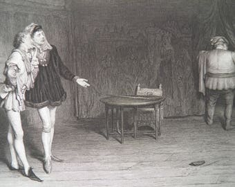 Shakespeare Prince Henry IV by W Orchardson Antique Art Print