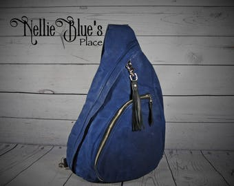 CUSTOM Sling Backpack/Waxed Canvas Backpack in YOUR CHOICE of Colors