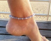 Anklet Bracelet, Beaded Anklet Bracelet, Anklets For Women, Beach Anklet, Foot Jewelry,Gift Idea For Her