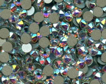 2088 ss30 ci *** 12 Swarovski Xirius Rose flat back 6,4mm crystal ab f