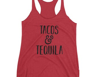 Tacos and Tequila Women's tank top, Workout tank, tank, gifts for her, workout gifts, Funny Shirt, Funny Gift, Yoga Shirt, Yoga gift, Tacos