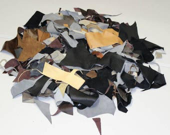 Cow Upholstery Leather Scrap 10 Pounds (1318-10-G12)