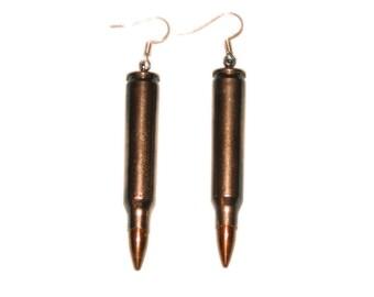 Bullet Earrings: 223CAL Nickel (1261-10-9648)
