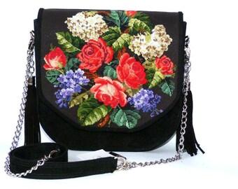 embroidery bag,cross stitch. embroidery,Handbag, leather bag, ukraine embroidery, embroidered handbags, cross stitch bag, ukraine bag