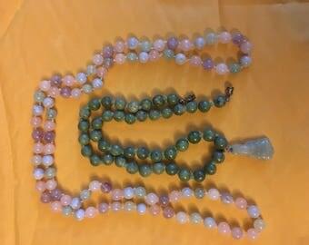 2 jade necklaces