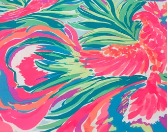 Paradise Bound cotton poplin  ~Authentic Lilly Pulitzer fabric~   2 sizes