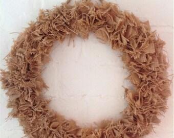 """Burlap / Hessian Wreath 12"""""""
