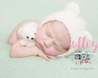 Set teddy bear. Newborn set. Knitted newborn set.