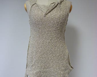 The hot price, beige boucle top, M size.