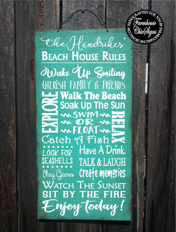 beach decor, beach decor, beach rules sign, personalized sign,  personalized beach decor, personalized beach rules, beach house sign