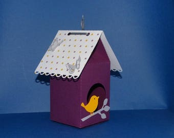 Box dragees boxes little yellow bird