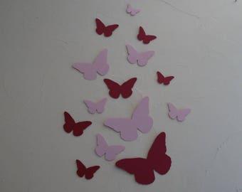 Pink butterfly flight