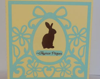Easter Bunny egg card