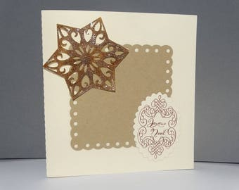 Small butter star Christmas card