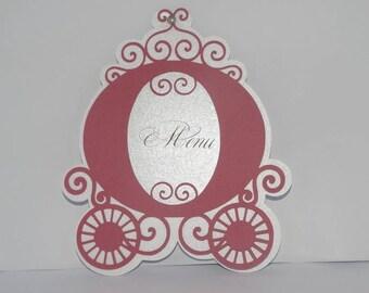 card menu slips Princess carriage