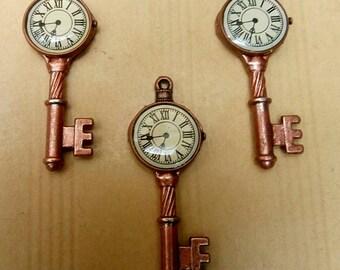 3 key watch steampunk pendants